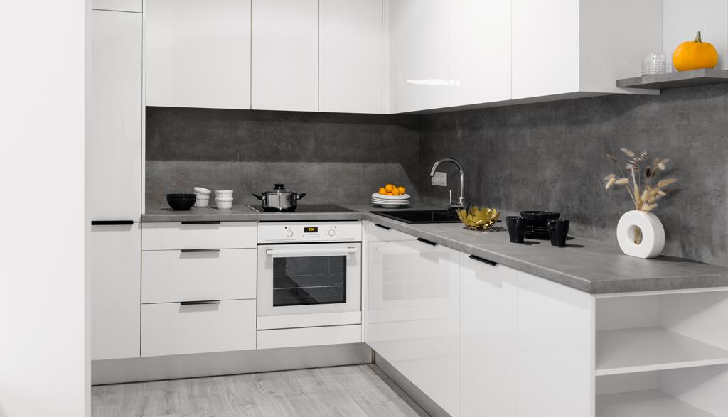 Virtuves mēbeles ar akrila fasādēm | Albero Mēbeles