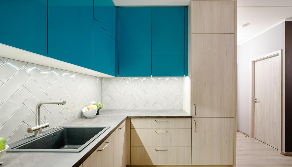 Krāsu spēle virtuvē - mēbeles pēc pasūtījuma | Albero Mēbeles