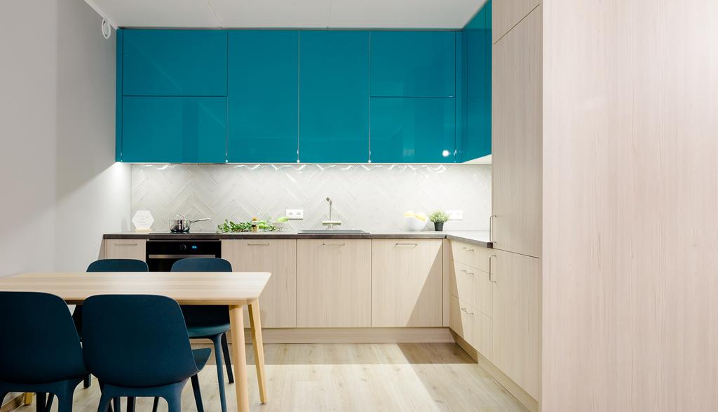 Krāsu spēle virtuves mēbelēs | Albero Mēbeles