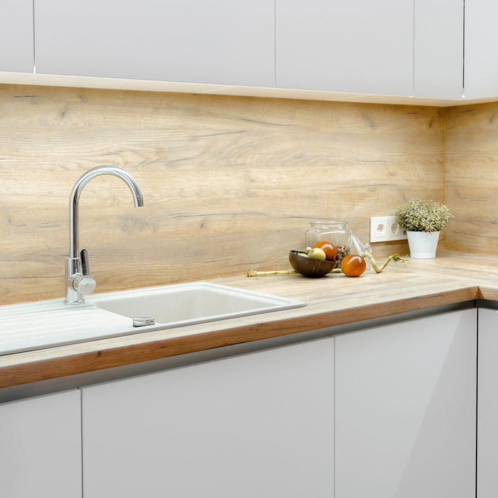 Balta virtuves iekārta | Albero Mēbeles